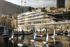 New Yacht Club de Monaco - designed by Lord Foster